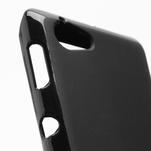 Gelové matné pouzdro na Sony Xperia L C2105- černé - 4/5