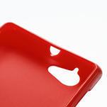 Gelové matné pouzdro na Sony Xperia L C2105- červené - 4/5