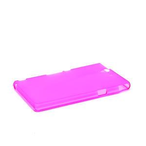 Gelové pouzdro na Sony Xperia Z L36i C6603- růžové - 4