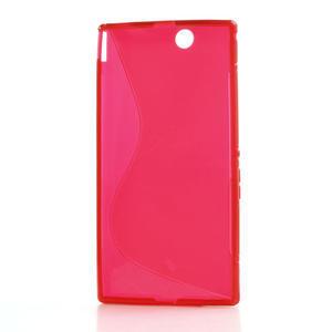 Gelove S-line pouzdro na Sony Xperia Z ultra- červené - 4