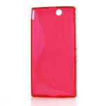 Gelove S-line pouzdro na Sony Xperia Z ultra- červené - 4/4