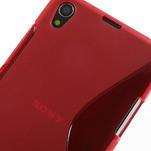 Gelové S-line pouzdro na Sony Xperia Z1 C6903 L39- červené - 4/5