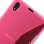 Gelové S-line pouzdro na Sony Xperia Z1 C6903 L39- růžové - 4/5