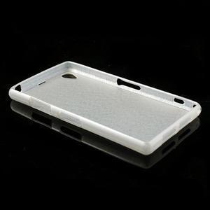 Kartáčované pouzdro na Sony Xperia Z1 C6903 L39- bílé - 4