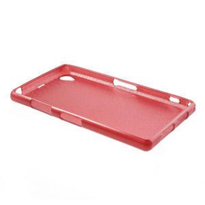 Kartáčované pouzdro na Sony Xperia Z1 C6903 L39- červené - 4
