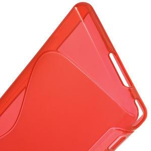 Gelové S-line pouzdro na Sony Xperia M2 D2302- červené - 4