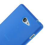 Gelové tenké pouzdro na Sony Xperia M2 D2302 - modré - 4/5