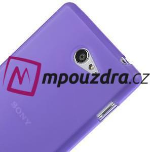 Gelové tenké pouzdro na Sony Xperia M2 D2302 - fialové - 4