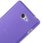 Gelové tenké pouzdro na Sony Xperia M2 D2302 - fialové - 4/5