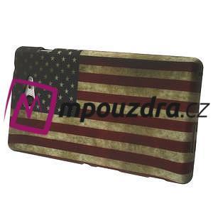 Gelové pouzdro na Sony Xperia M2 D2302 - USA vlajka - 4