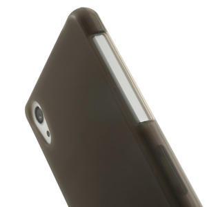 Gelové matné pouzdro na Sony Xperia Z2 D6503- šedé - 4