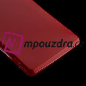 Gelové kartáčové pouzdro na Sony Xperia Z3 D6603 - červené - 4