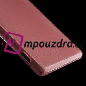 Gelové kartáčové pouzdro na Sony Xperia Z3 D6603 - světlerůžové - 4
