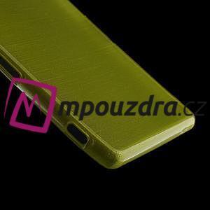 Gelové kartáčové pouzdro na Sony Xperia Z3 D6603 - zelené - 4