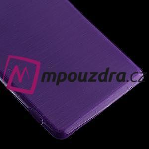 Gelové kartáčové pouzdro na Sony Xperia Z3 D6603 - fialové - 4