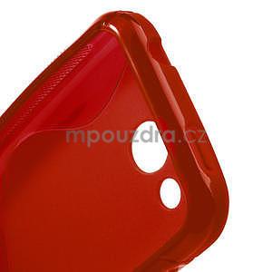 Gelové S-line pouzdro pro HTC Desire 200- červené - 4