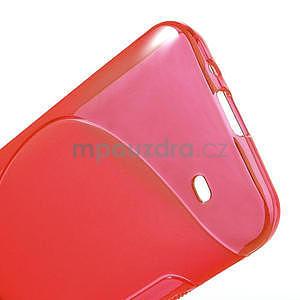 Gelové S-line pouzdro pro HTC Desire 300 Zara mini- červené - 4