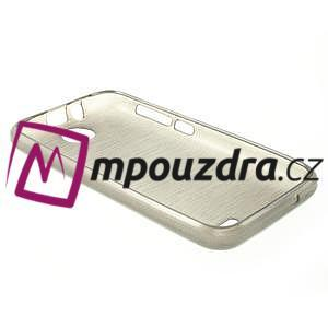 Gelové kartáčované pouzdro na HTC Desire 310- šedé - 4