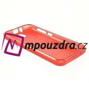 Gelové kartáčované pouzdro na HTC Desire 310- červené - 4