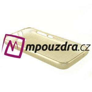 Gelové kartáčované pouzdro na HTC Desire 310- zlaté - 4