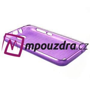 Gelové kartáčované pouzdro na HTC Desire 310- fialové - 4