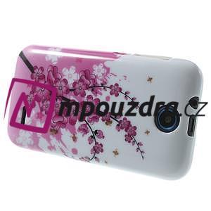 Gelové pouzdro na HTC Desire 310- kvetoucí větvička - 4