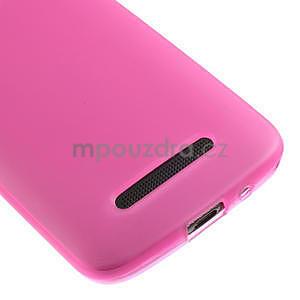 Gelové matné pouzdro pro HTC Desire 500- růžové - 4