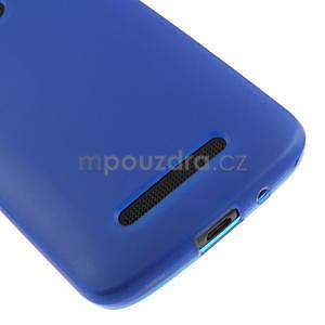 Gelové matné pouzdro pro HTC Desire 500- modré - 4