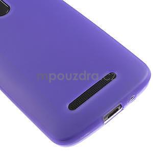 Gelové matné pouzdro pro HTC Desire 500- fialové - 4