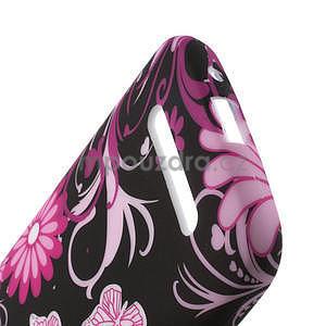 Gelové pouzdro pro HTC Desire 500- květiny a motýli - 4