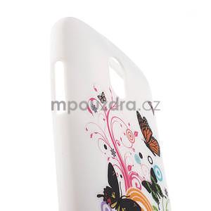 Gelové pouzdro pro HTC Desire 500- barevné motýli - 4