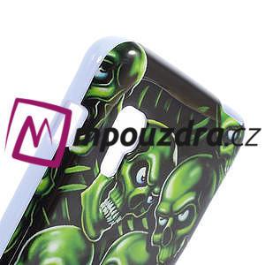 Gelová pouzdro pro LG Optimus L5 Dual E455- zelené lebky - 4
