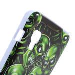 Gelová pouzdro pro LG Optimus L5 Dual E455- zelené lebky - 4/5