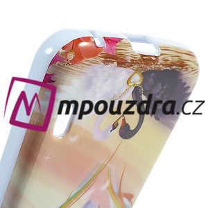 Gelová pouzdro pro LG Optimus L5 Dual E455- labutí srdce - 4