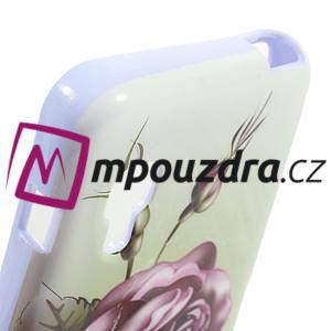 Gelová pouzdro pro LG Optimus L5 Dual E455- Růže - 4