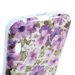 Gelová pouzdro pro LG Optimus L5 Dual E455- živé květy - 4/4