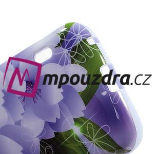 Gelová pouzdro pro LG Optimus L5 Dual E455- elegantní fialové květy - 4