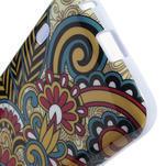 Gelová pouzdro pro LG Optimus L5 Dual E455- kmenové květy - 4/4