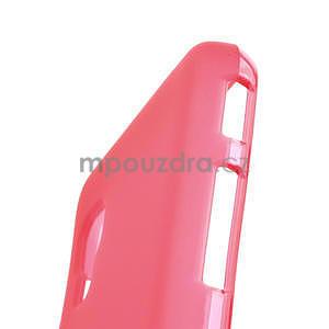 Matné gelové pouzdro pro LG Optimus L5 Dual E455- červené - 4