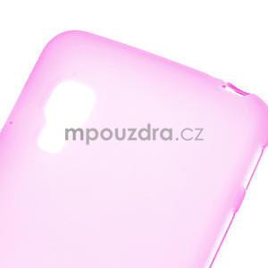 Matné gelové pouzdro pro LG Optimus L5 Dual E455- růžové - 4