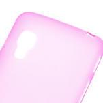 Matné gelové pouzdro pro LG Optimus L5 Dual E455- růžové - 4/4