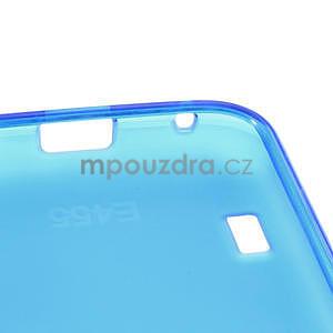 Matné gelové pouzdro pro LG Optimus L5 Dual E455- modré - 4