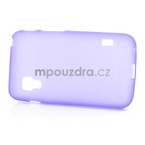 Matné gelové pouzdro pro LG Optimus L5 Dual E455-fialová - 4