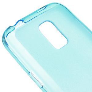 Gelové matné pouzdro na Samsung Galaxy S5 mini G-800- modré - 4