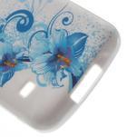 Gelové pouzdro na Samsung Galaxy S5 mini G-800- modrá lilie - 4/5