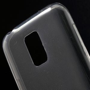 Gelové 0.6mm pouzdro na Samsung Galaxy S5 mini G-800- šedé - 4