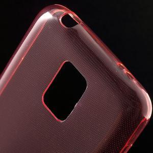 Gelové 0.6mm pouzdro na Samsung Galaxy S5 mini G-800- červené - 4