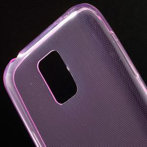 Gelové 0.6mm pouzdro na Samsung Galaxy S5 mini G-800- růžové - 4