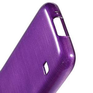 Kartáčové pouzdro na Samsung Galaxy S5 mini G-800- fialové - 4