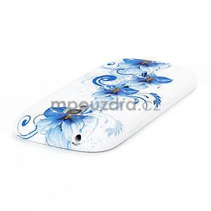 Bílé gelové pouzdro pro Samsung Galaxy S3 mini / i8190 - vzor Lily - 4